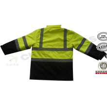 Doble color Clase 3 impermeable invierno chaqueta reflectante