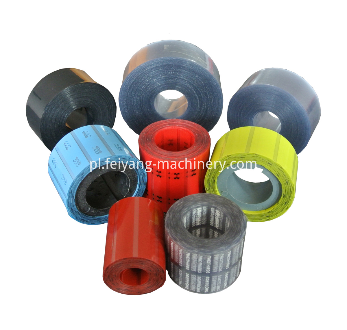 shoelace multi color tipping film