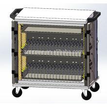 2015 tablette de stockage avec cordon d'alimentation de bonne qualité et prise de courant nouveau design personnalisé 40 chariots de mobilier scolaire de charge