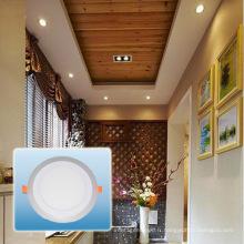 Ampoule de LED / lumière ronde de panneau de couleur en aluminium