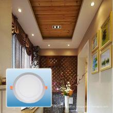 Bulbo do diodo emissor de luz / luz de painel redonda cor de alumínio dobro