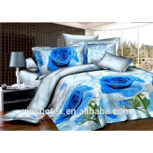 100% polyester brushed disperse print 3d bedding sets/king size 3d bedding set
