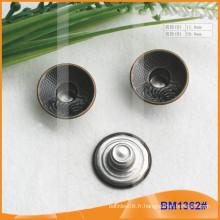 Bouton métallique, boutons Jean personnalisés BM1362