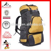 Mochila ao ar livre 60L grande capacidade saco mochilas de viagem ombro duplo