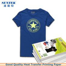 T-shirt leve escuro Papel de impressão da transferência térmica da imprensa do laser do Inkjet