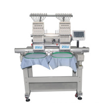 QS-1204C FOUR Head Computerized Embroidery Machine Dahao Computer for T shirt logo label hat Embroidery Machine