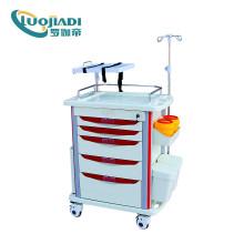 Chariot d'anesthésie de chariot d'urgence médicale de vente chaude