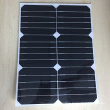 Lightweight Semi Flexible Solar Panel 17W 17V with Ce Certification