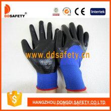 Blue Nylon with Black Nitrile Glove Dnn913