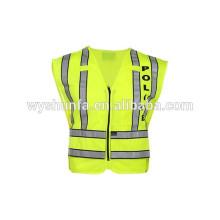 ANSI/ISEA vehicle security vests with sticker warning jacket,reflective apparel flame-retardant