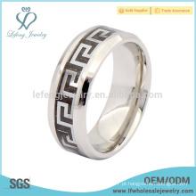 Cool anéis de titânio para homens, antique jóias anel de esmalte