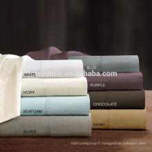 Ensemble de draps en coton liquide de la Philosophie de sommeil 300TC