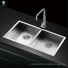 Wide varieties rectangular double bowl undermount restaurant kitchen stainless steel sink