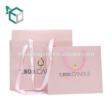 Factory Price Custom Logo Cosmetics Candle Shopping Bag With Handle