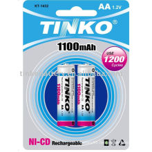 ni-cd battery size AA 1100mah good quality with CE IN CARDS