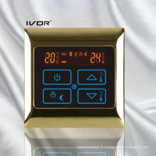 Chauffage par le sol Thermostat Cadre tactile en métal (SK-HV2000B-L)