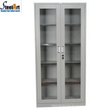 2018 venda quente boa qualidade escritório usado dois porta armário de arquivo de vidro