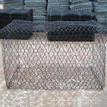 Rede de arame revestida do PVC Gabion para a gaiola de pedra