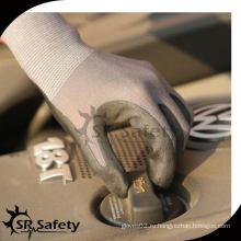 SRSAFETY 15G трикотажные нейлоновые и спандексовые черные нитриловые рабочие перчатки