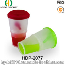 New Promotional Breakfast Cereal Cup Plastic Salad Shaker Cup (HDP-2077)