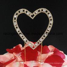 Sparkly Rhinestone Cake Topper Heart Wedding Cake Topper