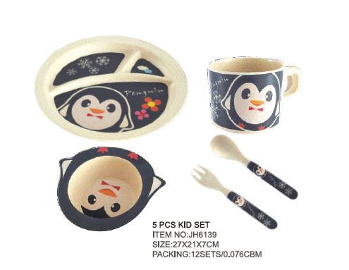 Cute Design Baby Bamboo Dinner Set
