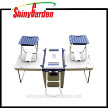 Picnic Rolling 28Litre Plastic Ice Cooler Box With Table & Chairs
