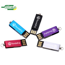 Venta caliente barato giratorio / giratorio Metal Flash Disk memoria USB con llavero