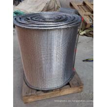 Cinta transportadora de tejido compuesto de alambre en espiral redondo