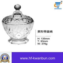 Функциональный стеклянный салат Чаша с крышкой Домашнее украшение Использование