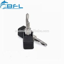 Herramientas de corte plásticas del molino de extremo de la flauta del espiral del carburo de BFL solas en China