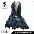 El estilo de laster venta al por mayor rebaño impresión hijab viscosa