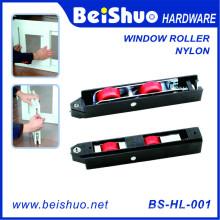 Rouleaux de fenêtre avec une surface en nylon et une roue en nylon intégrée