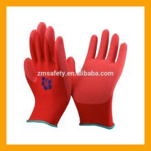 EN388 rote Schaumlatex-Holz-industrielle Sicherheits-Handschuhe