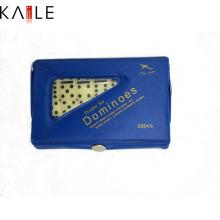 Elfenbein Domino Stück mit PVC-Box