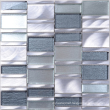 Modern Style Glass Mix Aluminum Custom Mosaic Tile Backsplash