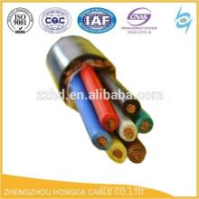 0.6 / 1KV multi-core pvc schirm elektrische draht kabel geflochtene kabel elektrischen draht