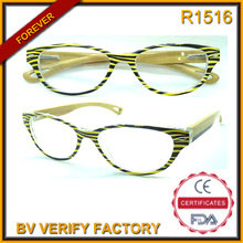 R1516 Hotsale Mode Bambus Tempel Lesebrille Made in China
