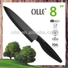 8'' 200mm Zirconia Blade Pure Black Olle Ceramic Knife