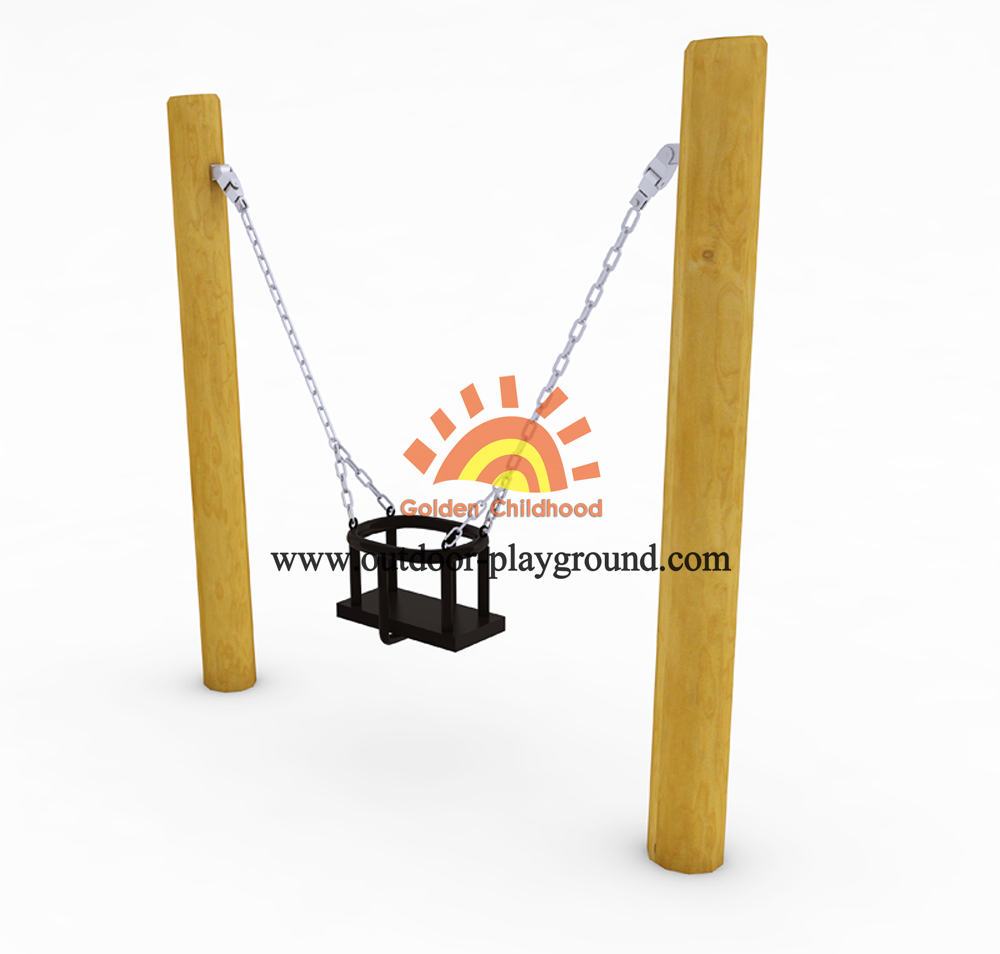 children's wooden swing sets