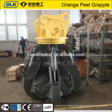full rotary hydraulic orange peel scrap grab machine for sale