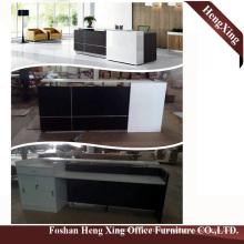 (HX-5D373) Grey Office Reception Counter Desk  Wooden Modern Office Furniture