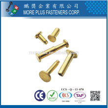 Fabriqué en Taiwan Steel Stainless Steel Copper Color Pop Special DIN 7337 aveugle Flat Head Rivet