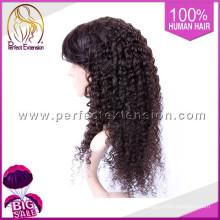 Haar-Produkte für Männer Afro verworrene lockige volle Spitze Perücken Glatze Perücke