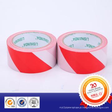 Fita de advertência subterrânea adesiva forte do PVC da cor dobro
