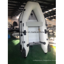 PVC Hull Material Inflatable Boat with Outboard Motor