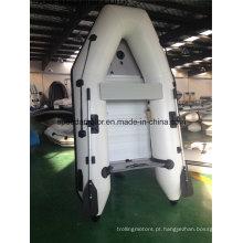 Casco de PVC Material barco inflável com Motor de popa