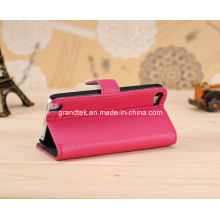 Book Style Leather Wallet Cellphone Case for iPhone 5 5s