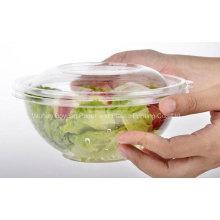 Alta qualidade descartável salada clara tigela com tampa
