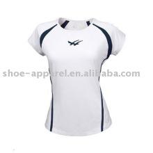 Wholesale wicking moisture women tennis shirts